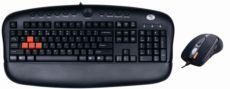 A4 TECH USB,Q TR Multimedya Klavye,7B+1 Optik Mouse Gamer Set,Siyah