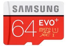 SAMSUNG 64GB Evo Plus 100MB Class 10 UHS I Micro SD