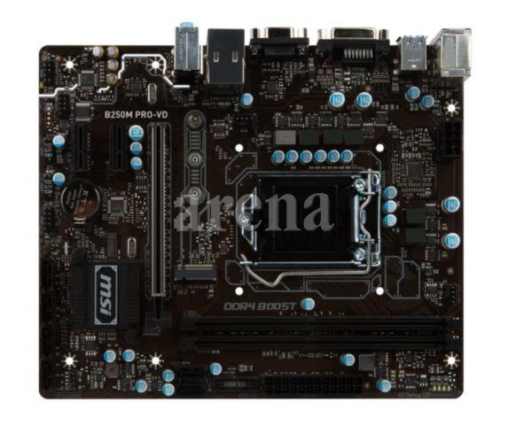 MSI B250M PRO-VD DDR4 VGA DVI GLAN M2 SATA 6GB/S. USB3.1 mATX