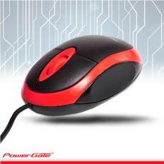 PowerGate E190-K USB Kablolu MOUSE (Kırmızı-Siyah)