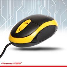 PowerGate E190-SR USB Kablolu MOUSE (Sarı-Siyah)