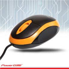 PowerGate E190-T USB Kablolu MOUSE (Turuncu-Siyah)
