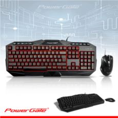 POWERGATE KM-A7 Işıklı Klavye + Mouse USB