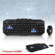 POWERGATE KM-Q7 Kablosuz Multimedya Siyah Klavye,Mouse Set