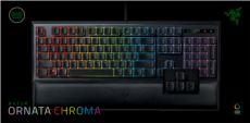 RAZER Ornata Chroma,Membrane,Siyah Gaming Klavye Kol Dayama Yastığı