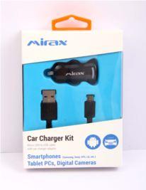 MIRAX Micro USB bağlantılı araç şarj kiti