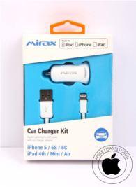 MIRAX iPhone  6-6Plus-5-5S-5C araç şarj kiti Apple Lisanslı Ürün