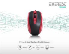 EVEREST SM-580U Usb Siyah-Kırmızı Optik Mouse