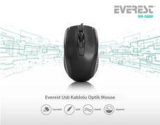 EVEREST Usb Siyah Optik Mouse