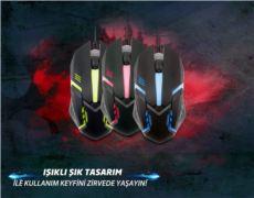 EVEREST Siyah Işıklandırmalı Oyuncu Mouse SM-G62