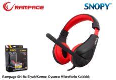 RAMPAGE Kablolu Mikrofonlu Siyah-Kırmızı Gaming Kulak Üstü Kulaklık