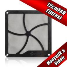 SILVERSTON SilverStone 12cm Mıknatıslı Siyah Fan Filtresi SST-FF122B