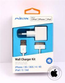 MIRAX iPhone 4-4S duvar şarj kiti, iPad&iPod uyumlu,Orijinal Apple Lisanslı