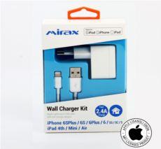 MIRAX Mirax iPhone 6S- 6SPlus- 6- 6Plus- 5- 5S- 5C Şarj Kiti -Lisanslı Ürün