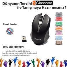 CLASSONE 2.4 GHz 800-1200-1600 DPI Nano Alıcılı Kablosuz Mouse Siyah