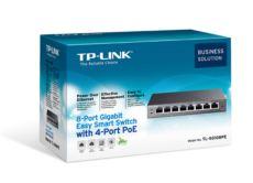TP-LINK 8 Port 10-100-1000Mbps - 4 Port Poe