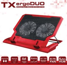 TX 11--17- Uyumlu 14cm Çift Fan 2xUSB 5 Kademeli Yükseklik Laptop Soğutucu TXACNBERGDUORD