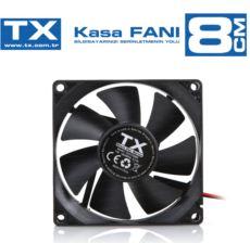 TX 8 cm siyah kasa fanı