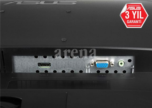 ASUS VP228HE 21.5' LED, 1920x1080, 1ms, VGA-HDMI, 1.5Wx2 Hoparlör, Düşük Mavi Işık,