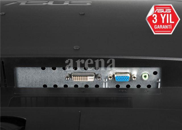 ASUS VP247T 23,6' GAMING LED 1920x1080, 1ms, VGA-DVI, 1.5Wx2 Hoparlörlü Siyah Monitör