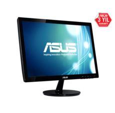 ASUS 18,5- LED 1366x768 5ms Monitör Parlak Siyah Monitör