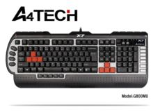 A4 TECH USB,Q Türkçe,Multimedya Gamer Klavye,Gri-Siyah